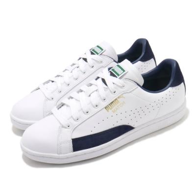 Puma 休閒鞋 Match 74 UPC 男鞋 皮革鞋面 基本款 板鞋 復古 白 藍 35951803