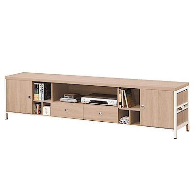 文創集 波可6.1尺木紋電視櫃/視聽櫃-181.6x40x56.5cm免組