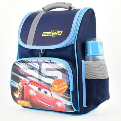 迪士尼Cars汽車總動員 立體護脊透氣書包 深藍色
