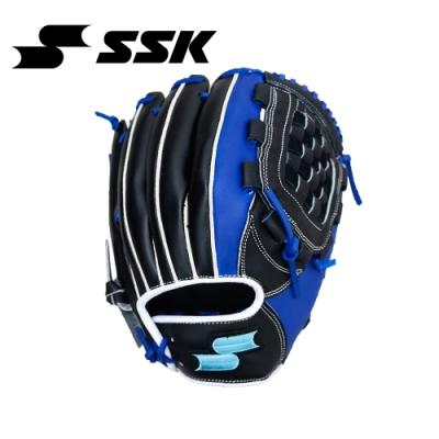 SSK  GNG212 SERIES 棒壘手套(水藍標)  黑/寶藍  GNG212-9063P