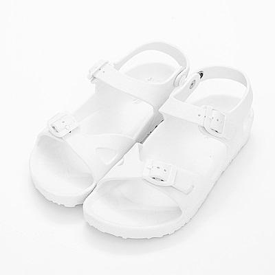 River&Moon防水鞋-台灣製輕量造型防水涼拖鞋-白