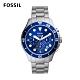 FOSSIL FB-03 三眼計時手錶 銀色不鏽鋼錶帶46MM FS5724 product thumbnail 1