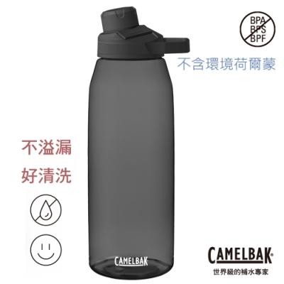 【美國 CamelBak】1000ml Chute Mag戶外運動水瓶RENEW 炭黑 CB2469001001
