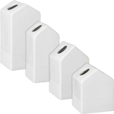 《RADER》白瓷花器4件(小屋)