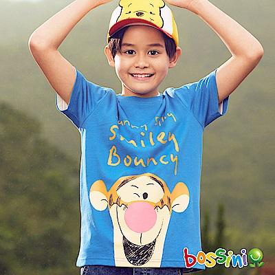 bossini男童-小熊維尼印花短袖T恤05淡藍
