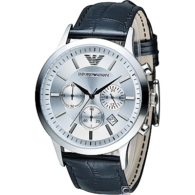 Emporio Armani Classic 簡約內斂計時腕錶(AR2432)43mm