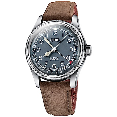 ORIS 豪利時 Big Crown指針式日期機械錶-綠x40mm