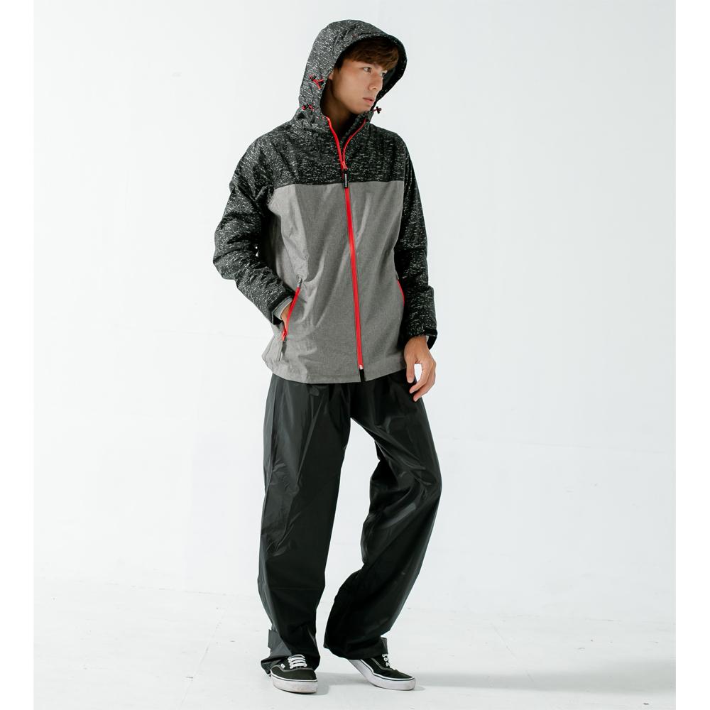 邁邁不積水前項導流兩件式風雨衣