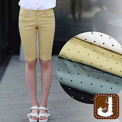 正韓 波爾卡圓點貼腿五分褲-(共二色)100%Korea Jeans