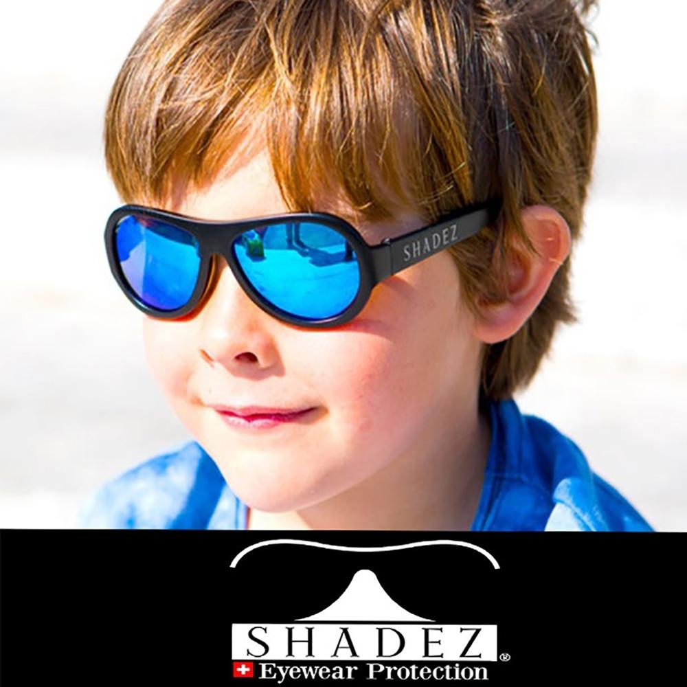 【瑞士SHADEZ】兒童太陽眼鏡 極光黑 7-12歲