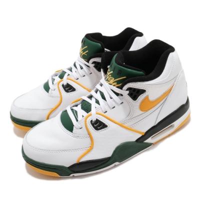 Nike 休閒鞋 Air Flight 89 運動 男鞋 經典款 復古 簡約 球鞋 穿搭 白 黃 CN0050100