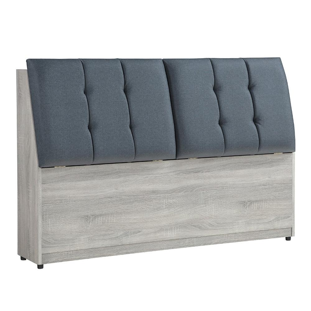 【AT HOME】日式簡約6尺鋼刷淺灰色床頭箱(清心)