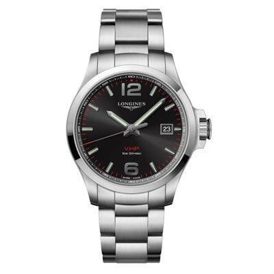 LONGINES 浪琴錶 征服者 VHP 萬年曆腕錶-黑/43mm