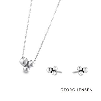 Georg Jensen 喬治傑生 - GRAPE系列套組 -項鏈+ 耳環