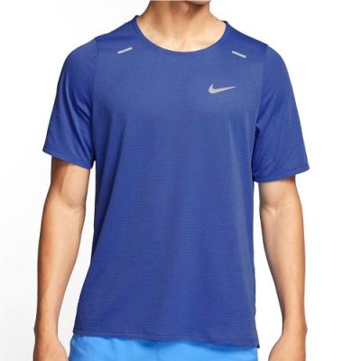 NIKE 短袖上衣 慢跑 運動 訓練 健身 男款 藍 CJ5421430 AS M NK RISE 365 SS