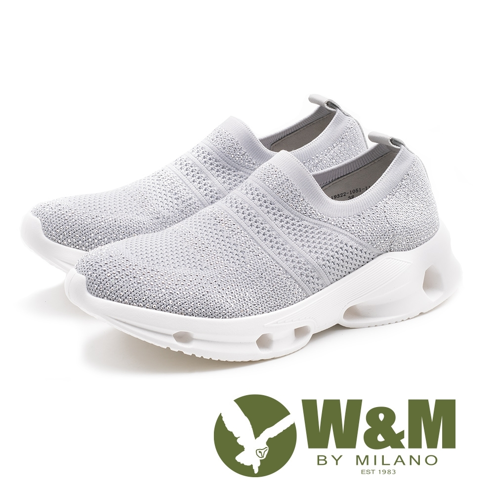 W&M MODARE飛線編織 輕量厚底彈力鞋 女鞋-灰(另有黑)