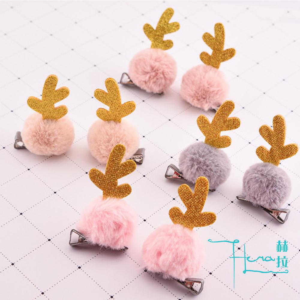 【Hera赫拉】聖誕鹿角邊夾(單一個隨機出貨) @ Y!購物