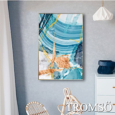 TROMSO 北歐風尚板畫有框畫-海濤流金WA90