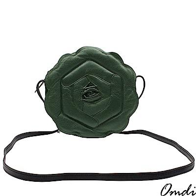 Omdi 精緻玫瑰手提包(綠色)
