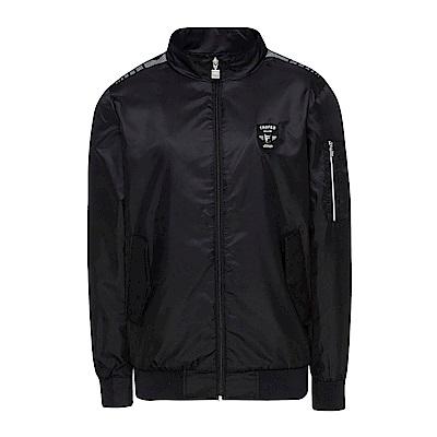 FILA 男款風衣外套-黑 1JKS-5454-BK