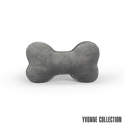 Yvonne Collection 骨頭車用頸枕抱枕-暗灰