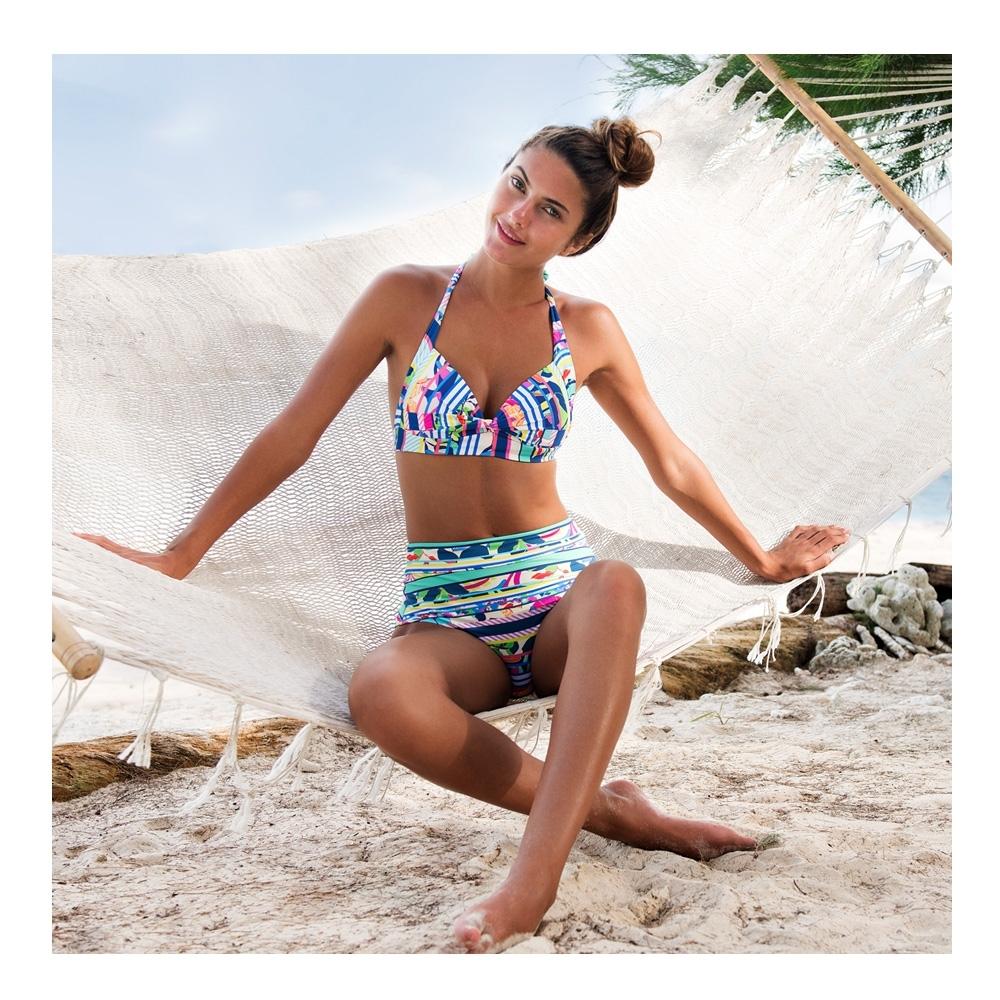 澳洲Sunseeker泳裝Tropical Rainbow系列無鋼圈兩件式比基尼2181093COB