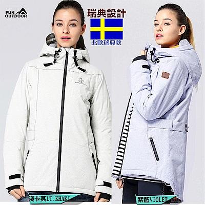 【戶外趣】女款國際專業極地雪衣全防水防風極暖加厚防風外套(LA 1798 L)