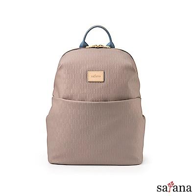 satana - Lady First 生活摺理後背包 - 玫瑰棕