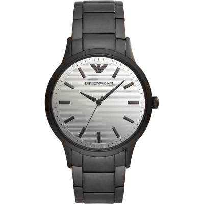 EMPORIO ARMANI 亞曼尼 現代簡約手錶-銀x灰/43mm(AR11259)