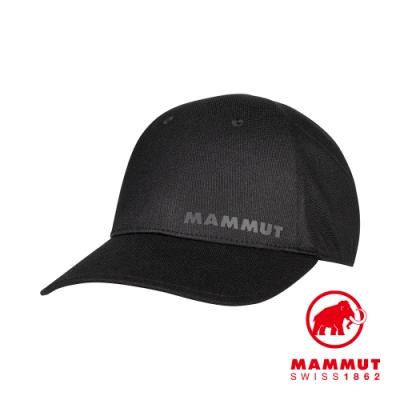 【Mammut 長毛象】Sertig Cap 休閒輕量透氣帽 黑色 #1191-00281