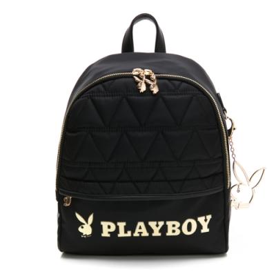 PLAYBOY-  小後背包 金典小兔系列 -黑色