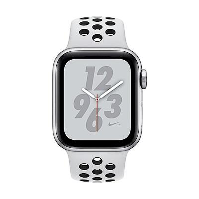 Apple Watch Nike+ S4(GPS+網路)40mm 銀色鋁金屬錶殼+白色錶帶