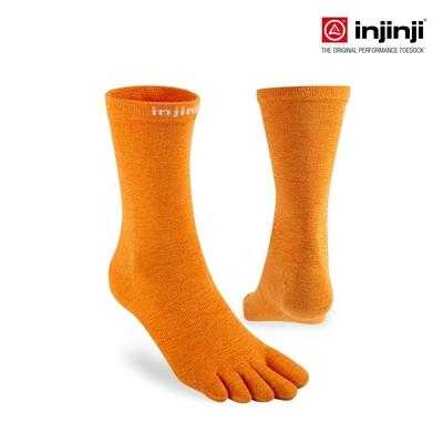 【injinji】LINER中筒內襪 (火橘色) - NAA25 | COOLMAX 吸濕排汗 可單穿 透氣中筒襪