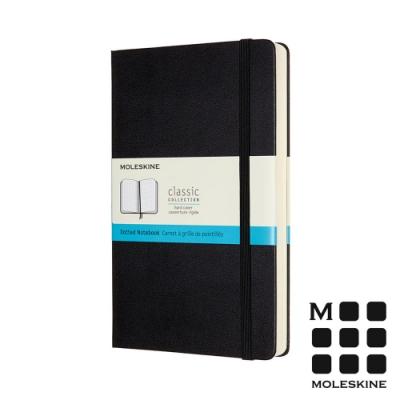 MOLESKINE 經典硬殼筆記本 (L型) 加量型-點線黑