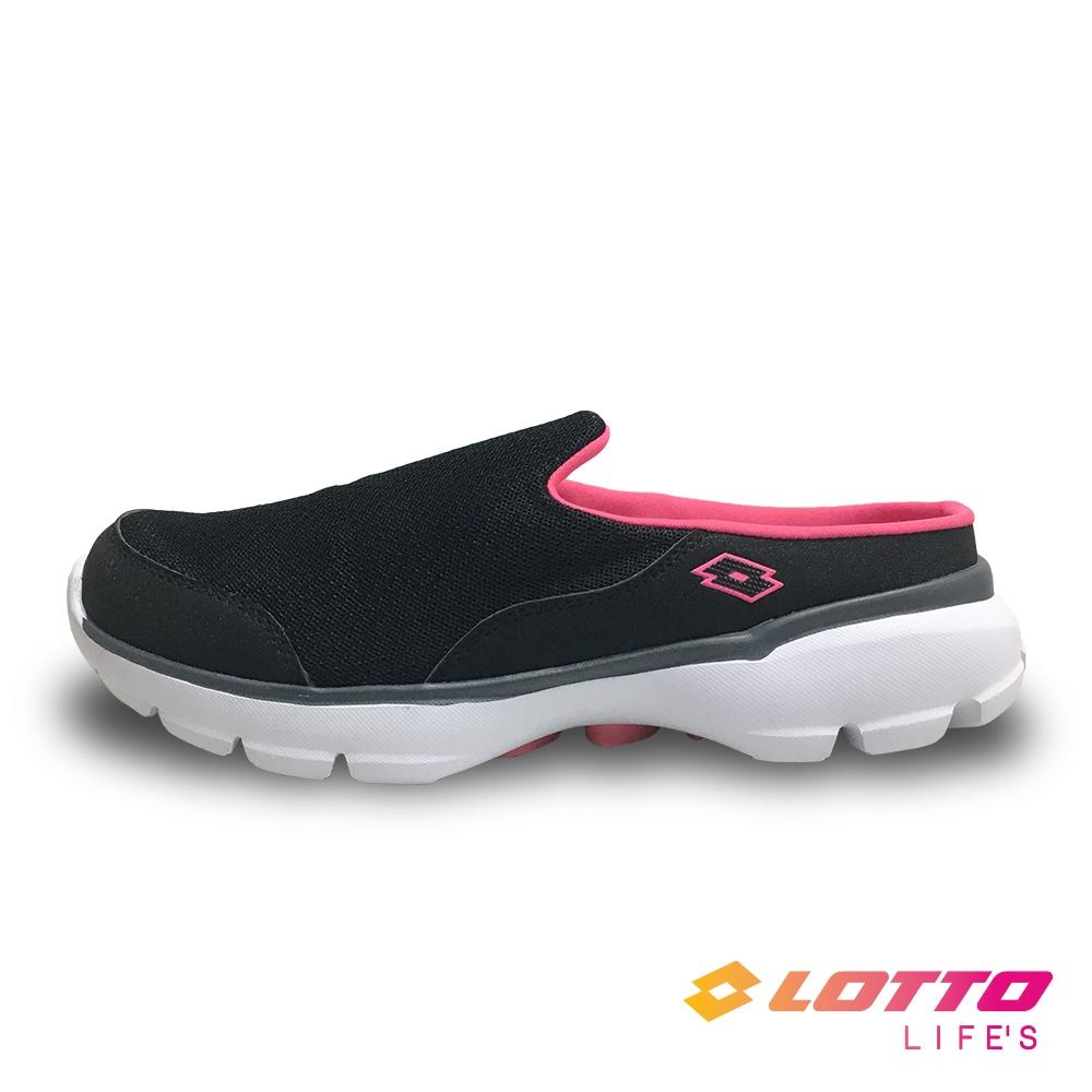 【LOTTO】義大利 女 EASY WEAR 穆勒健走鞋(黑-LT1AWX3700)