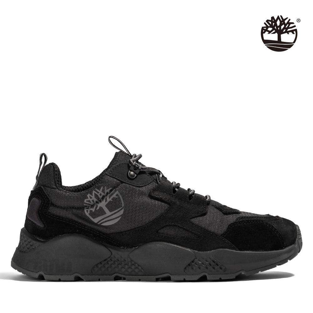 Timberland 男款黑色絨面革拼接運動鞋|A2QMV