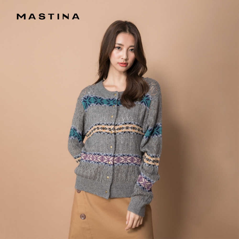 【MASTINA】質感休閒圖騰-針織衫(三色)