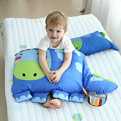 Milo&Gabby 動物好朋友-超細纖維防蹣大枕心+枕套組(Dylan印第安恐龍)