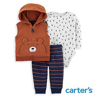 Carter's 小熊造型3件組背心套裝