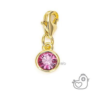 彩糖貝貝 粉紅色水晶墬子 親子& 閨蜜 繽紛系列