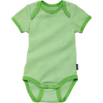 JAKO-O 德國野酷 純棉短袖包屁衣-綠色條紋