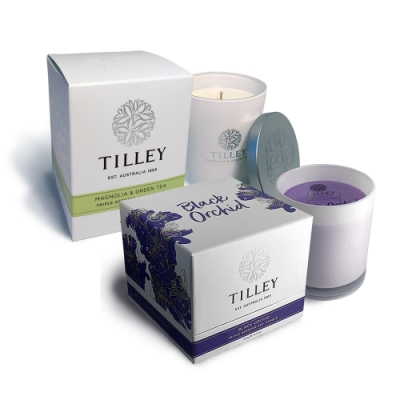 Tilley百年特莉 澳洲香氛大豆蠟燭-二入組(黑蘭花+木蘭花綠茶)