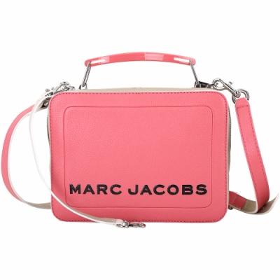 MARC JACOBS THE BOX 23 撞色牛皮雙拉鍊手提/肩背包(粉色)