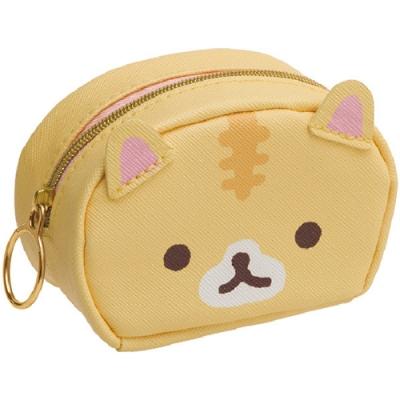 捲心奶油貓可愛生活系列迷你皮革收納包。奶油貓 San-X