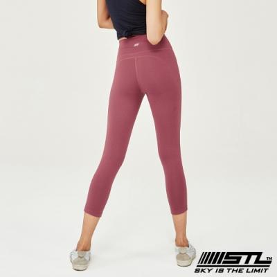 STL Leggings Seven Days 7 韓國 中低腰 運動瑜珈 緊身壓力7分拉提褲 底色深粉紅