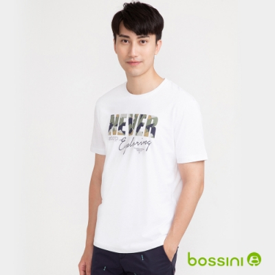 bossini男裝-印花短袖T恤01白