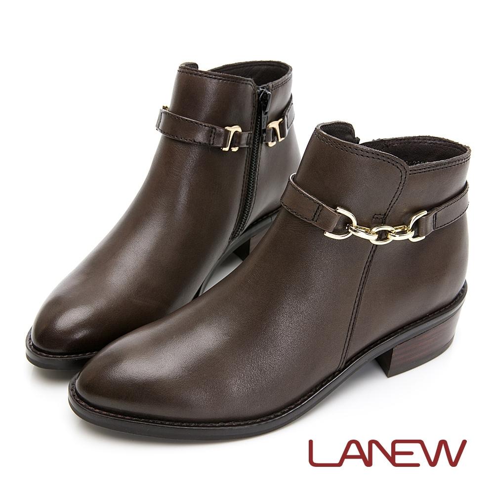 LA NEW 真皮低跟兩用短靴(女225048960)
