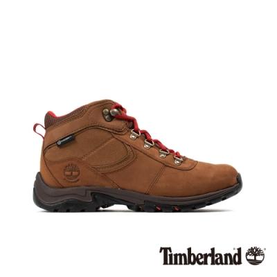 Timberland 女款鐵銹色磨砂革防水厚底中筒徒步鞋|A25MV