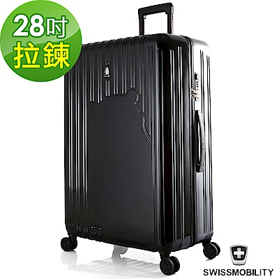 SWISSMOBILITY 瑞動 熊本熊28吋PC耐撞TSA海關鎖行李箱/旅行箱(黑色)
