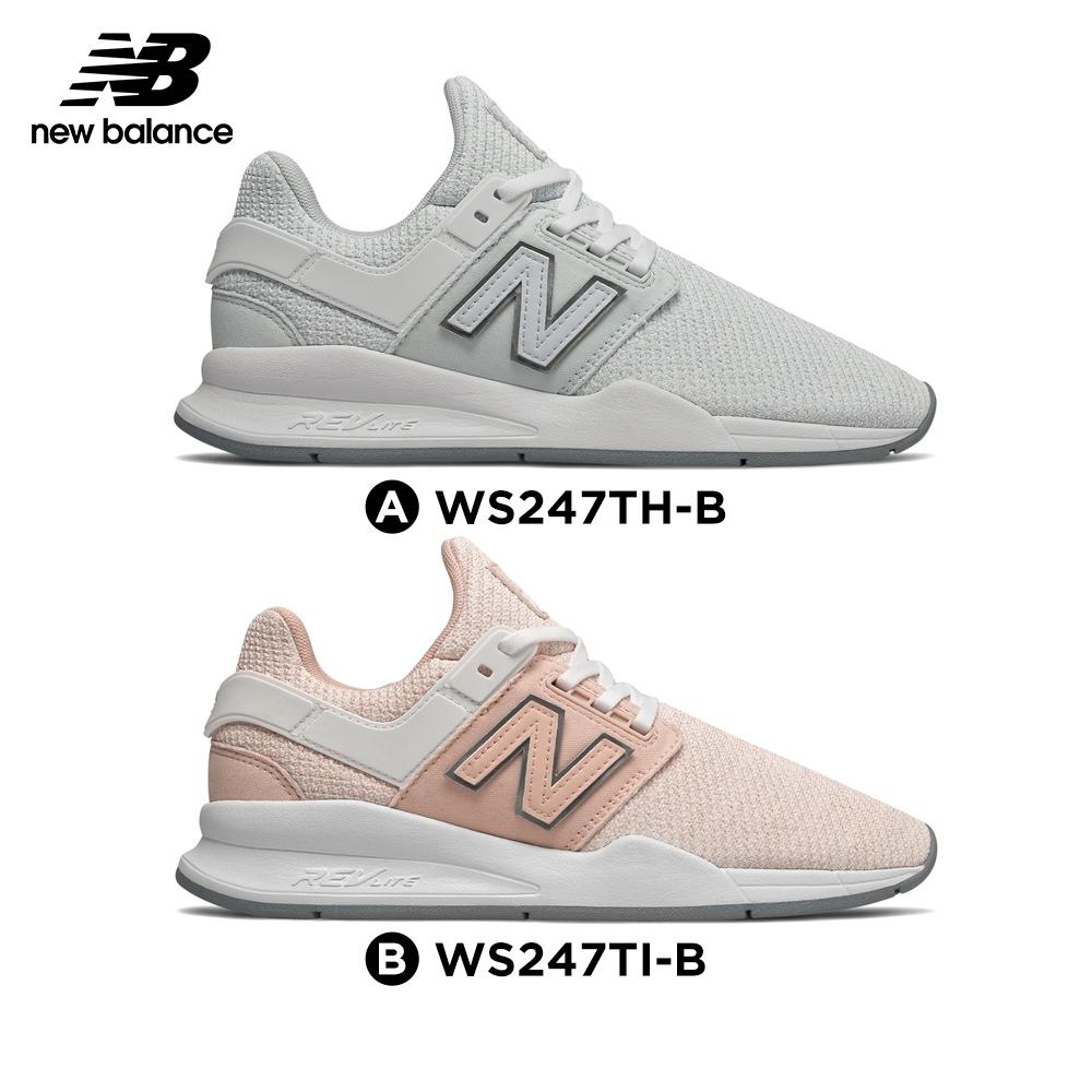 New Balance 247復古鞋_女_淺藍/粉紅色